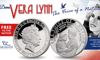 Free Ltd Edition Dame Vera Lynn Commemorative Coin