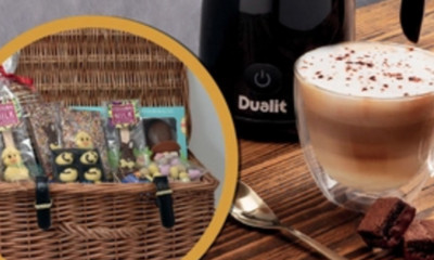 Win a Dualit Milk Frother and Cocoba Easter Hamper