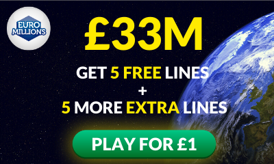 £33M Euromillions Jackpot - 10 Lines for £1