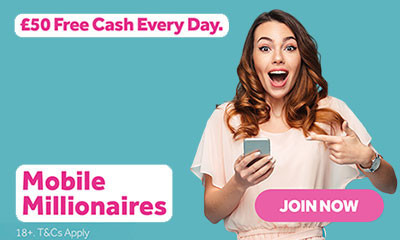 Win £50 Cash Every Day