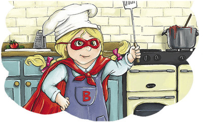 Free Kids Recipe Book - Superhero Themed