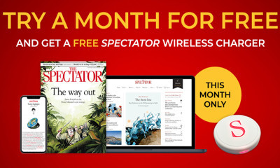4 Free Issues of The Spectator & Free Wireless Phone Charger