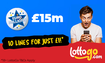 £15M Euromillions Jackpot - 10 Lines for £1 - HURRY