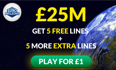 £25M Euromillions Jackpot - 10 Lines for £1