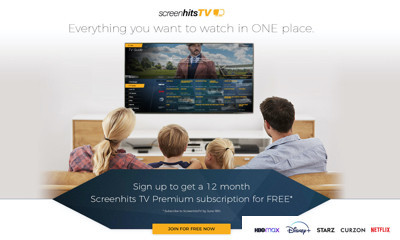 Free 12 Month Premium Subscription to ScreenhitsTV