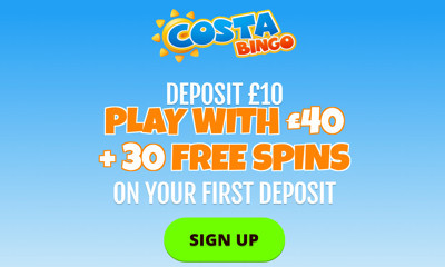 Free £30 of Bingo With Costa Bingo
