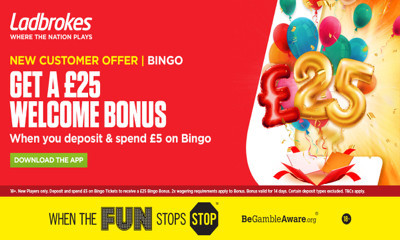 £25 Free Bingo from Ladbrokes