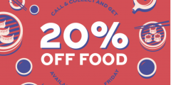 20% off Food with Call & Collect