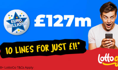 £127M Euromillions Jackpot - 10 Lines for £1 - HURRY