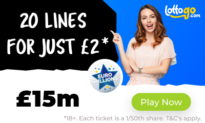 £15M Euromillions Jackpot - 20 Lines for £2*