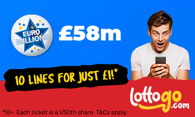 £58M Euromillions Jackpot - 10 Lines for £1 - HURRY