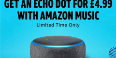 Amazon Echo Dot for £4.99 - Limited Time Only!