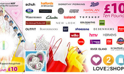 Earn a Free £10 Love2Shop Voucher