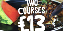 Two Courses for £13