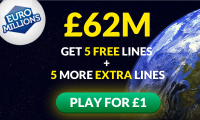 £62M Euromillions Jackpot - 10 Lines for £1