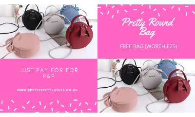 Free Pretty Round Bag (Worth £25)