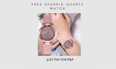 Free Sparkle Quartz Watch (Worth £36)