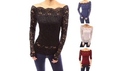 Free Long Sleeve Lace Top
