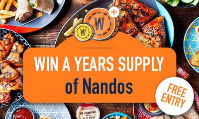 Win a Year's Supply of Nandos