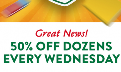 50% Off A Dozen Doughnuts for Food Heroes