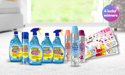 Win a 1001 Carpet Care Hamper + £50 Love2Shop Voucher