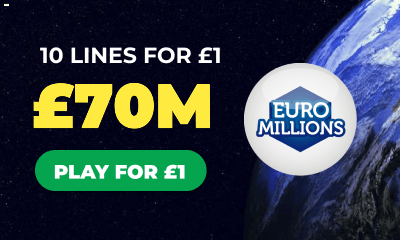 £70M Euromillions Jackpot - 10 Lines for £1