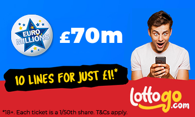 £70M Euromillions Jackpot - 10 Lines for £1 - HURRY
