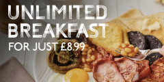 Unlimited Breakfast for £8.99