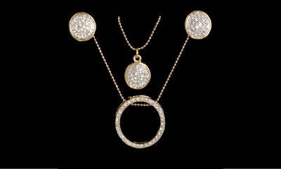 Free Alloy Gold Jewellery Set