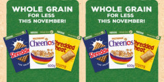 Free £1.50 cashback when you buy 2 Nestlé Cereals