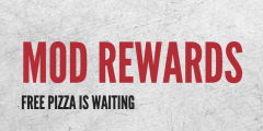 Free Pizza with Reward Stamps