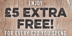 £5 Extra Gift Card Value