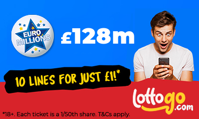 £128M Euromillions Jackpot - 10 Lines for £1 - HURRY