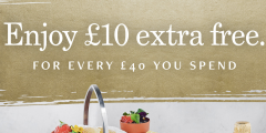 £10 Extra Gift Card Value