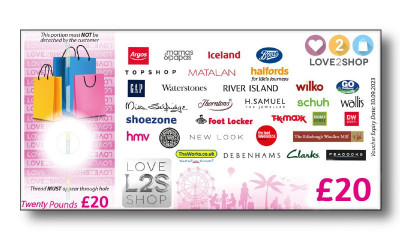 Earn a Free £20 Love2Shop Voucher