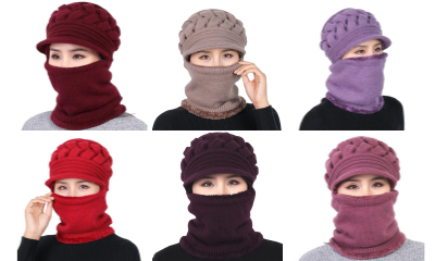 Free Winter Hat & Mouth Cover in 10 Colours