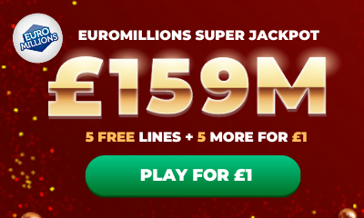 £159M Euromillions Super Jackpot - 10 Lines for £1
