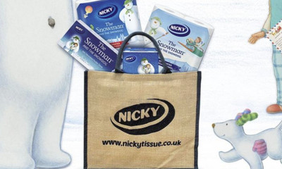 Free Nicky Tissue 'The Snowman' Gift Bags