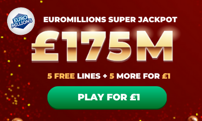 £175M Euromillions Super Jackpot - 10 Lines for £1