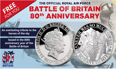 Free Battle of Britain 80th Anniversary Coin