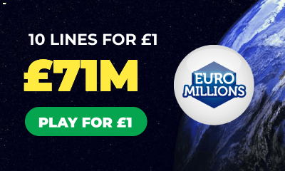 £71M Euromillions Jackpot - 10 Lines for £1