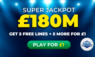 £180M Euromillions Super Jackpot - 10 Lines for £1