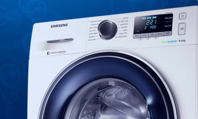 Win A Samsung EcoBubble 9kg Washing Machine