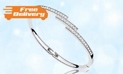 Swarovski Triple Crystal Row Bracelet - Only £6.49 Today!