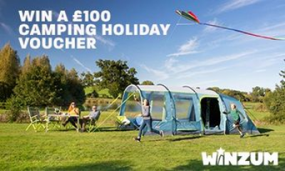 Win a £100 Camping Holiday Voucher