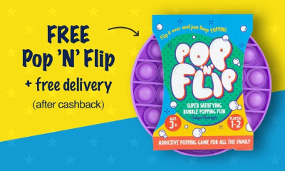 2 Free Pop 'N' Flip Sensory Toys with Free Delivery
