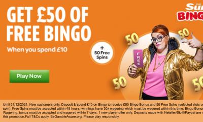 Free £50 of Bingo with Sun Bingo