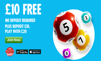 Free £10 of Bingo with Sun Bingo - NO DEPOSIT REQUIRED