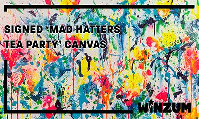 Win a 'Mad Hatters Tea Party' Canvas