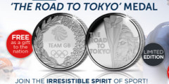 Free Official Team GB 'The Road to Tokyo' Medal